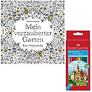 Mein verzauberter Garten mit Stiften Faber Castell Buntstifte 12er Karton 111212