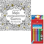 Mein verzauberter Garten mit Stiften Faber Castell Farbstifte Colour GRIP 12er Karton 112412