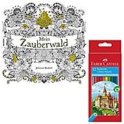 Mein Zauberwald mit Stiften Faber Castell Buntstifte 12er Karton 111212