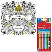 Mein Zauberwald mit Stiften Faber Castell Farbstifte Colour GRIP 12er Karton 112412