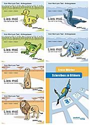 Lies mal 1,2,3,4,5,6 + Schreiben zu Bildern Erste Wörter