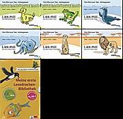 Lies mal Heft 1 Ente, 2 Frosch, 3 Robbe, 4 Krake, 5 Erdmännchen, 6 Löwe neue Version u Meine erste Lesedrachen-Bibliothek: Für die 1. und 2. Klasse