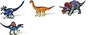 Tiptoi Dinosaurier kleine Spielfiguren Velociraptor + Camarasaurus + Triceratops + Spinosaurus