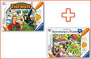 tiptoi® Paket: Spiel 'Abenteuer Tierwelt' + Puzzle 'Ponyhof'