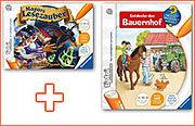 tiptoi® Paket: Spiel 'Magors Lesezauber' + Buch 'Entdecke den Bauernhof'
