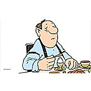 Loriot Schneidebrettchen Frühstücksbrettchen Brettchen Mann beim Ei essen