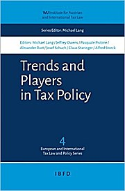 Trends and Players in Tax Policy